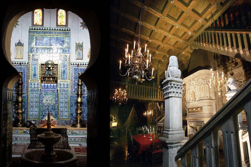 """La """"mosquée"""" et la salle Renaissance. Deux pièces majeures de la très surprenante maison de l'écrivain voyageur rochefortais, fermée depuis le 30 septembre 2012"""
