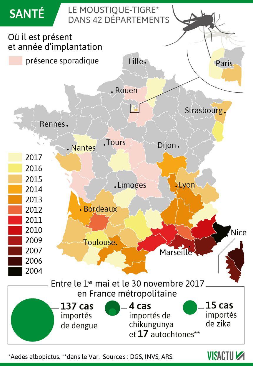 Le moustique tigre progresse vers le Nord de la France