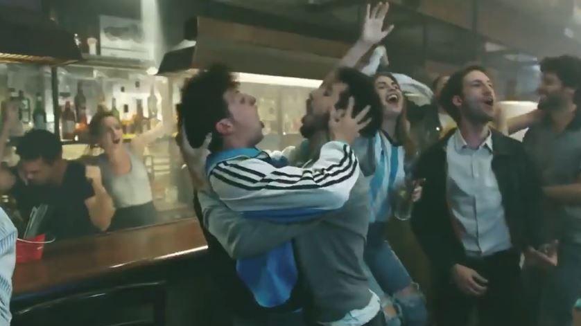 Des supporters argentins dans le clip de la chaîne TYC