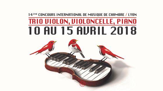 affiche du 14e Concours international de musique de chambre de Lyon