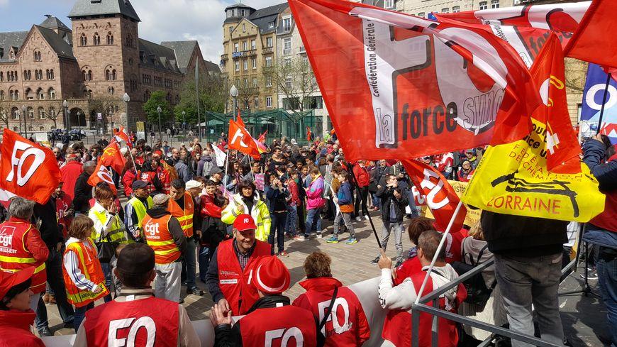 850 personnes étaient présentes à Metz pour le traditionnel défilé du 1er du Mai.