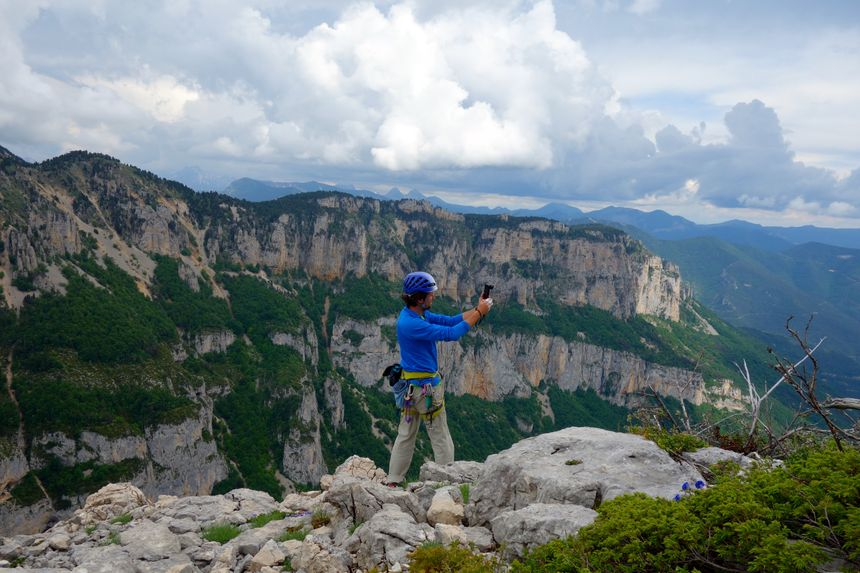 Jocelyn Chavy, journaliste et photographe, à Archiane (Drôme)