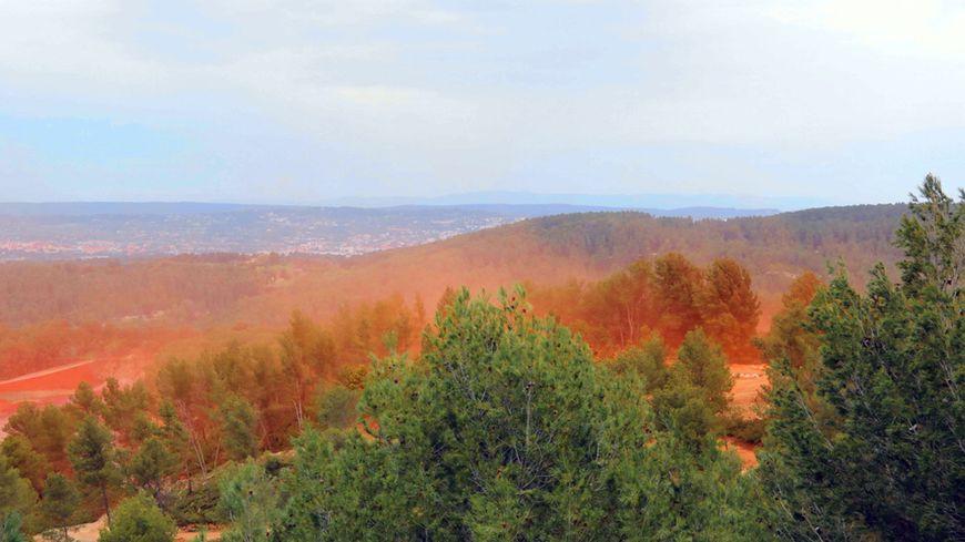 Le site de Mange-Garri où sont stockées les résidus de bauxites de l'usine Altéo de Gardanne