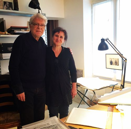 Georges Aperghis et Anne Montaron