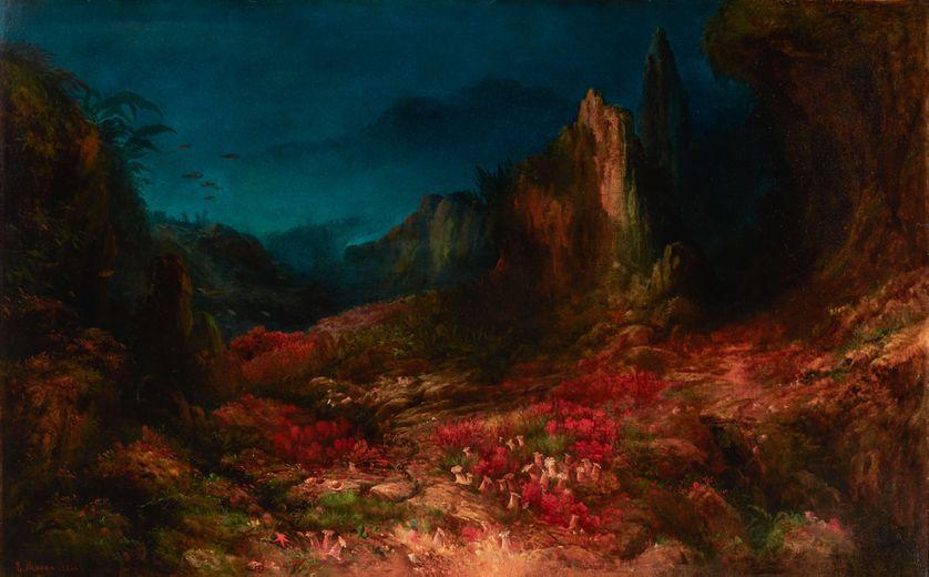 "Edward MORAN, ""The Valley in the Sea"", 1862, Huile sur toile, 102,9 x 162,6 cm"
