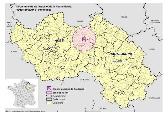 Le centre de stockage des déchets nucléaires de Soulaines-Dhuys dans l'Aube est situé à une cinquantaine de kilomètres de Vitry-le-François