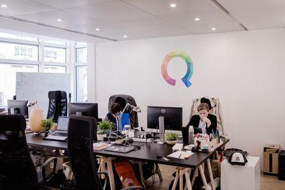 Dans les bureaux de Qwant à Paris