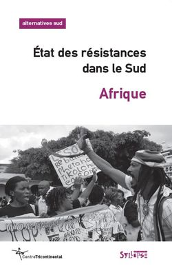 Etat des résistances dans le Sud