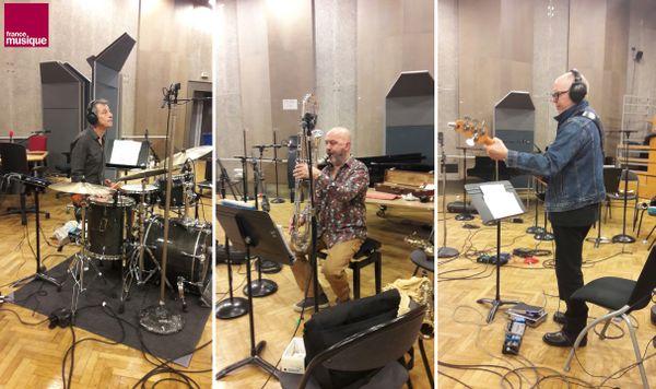 Frédéric Sicart, Pierre-Louis Garcia-Leccia et Dominique Grimaldi au studio 107