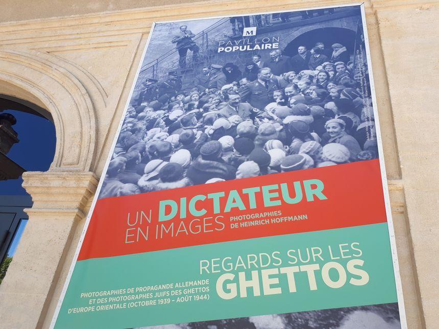 """Les expositions """"Un Dictateurs en Images"""" et """"Regards sur les Ghettos"""" sont ouvertes gratuitement au Pavillon Populaire jusqu'au 23 septembre 2018 / Radio France"""