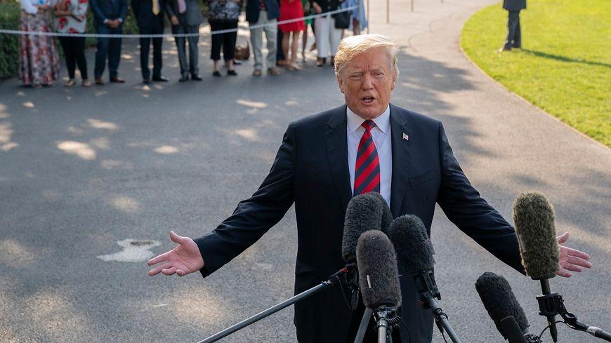 Donald Trump ce vendredi, avant son départ de la Maison blanche.