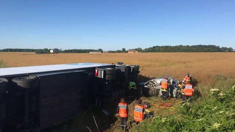 L'accident s'est produit au niveau de la commune de Lantan, dans le Cher.