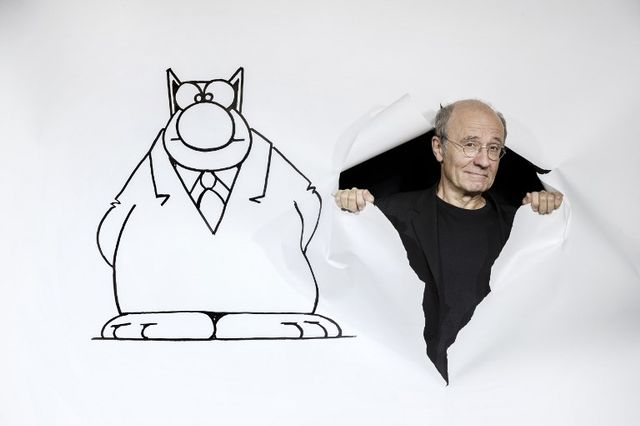 Philippe Geluck et son chat