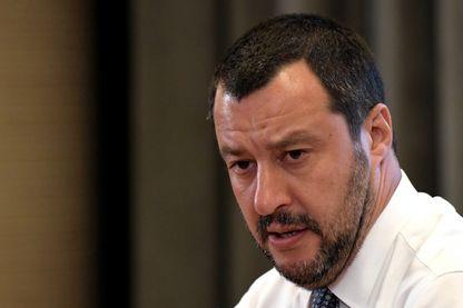 Matteo Salvini, ministre italien de l'Intérieur, pendant une conférence de presse à Rome, le 25 juin 2018.