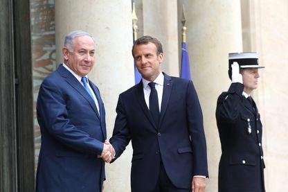 Benjamin Netanyahu accueilli à l'Elysée cet après-midi par Emmanuel Macron
