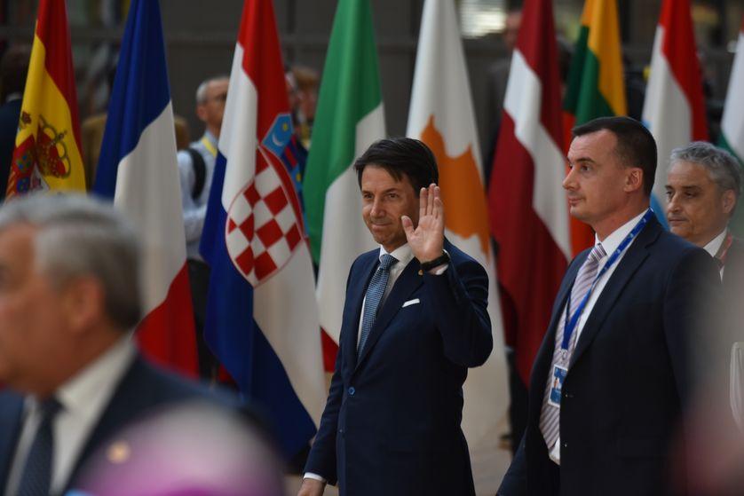 Giuseppe Conte, le nouveau président du conseil italien, à son arrivée au sommet de Bruxelles