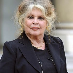 Brigitte Bardot au Palais de l'Elysée, le 27 septembre 2007 après un entretien avec le président de la République Nicolas Sarkozy.
