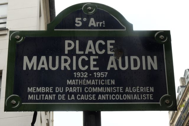 Place Maurice Audin, Paris.