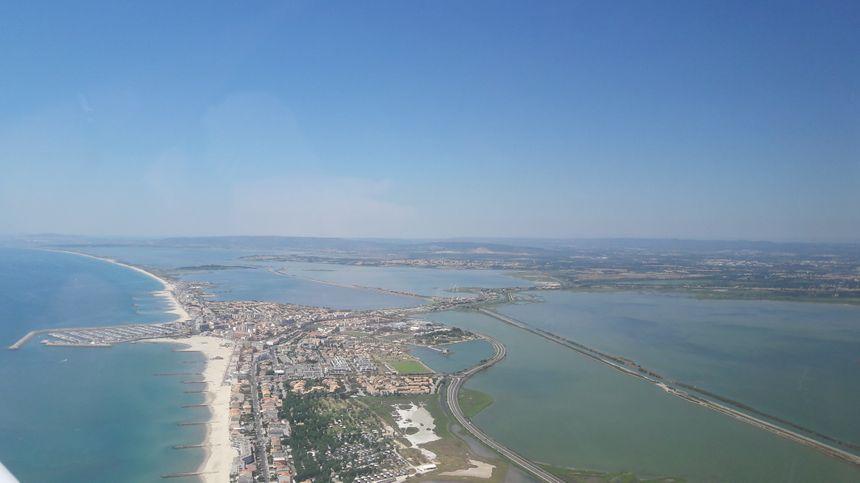 Vue aérienne de Carnon