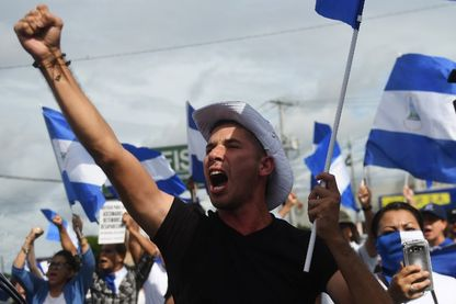 Manifestation antigouvernemental à Managua, au Nicaragua, dimanche 17 juin 2018. Huit personnes ont été tuées samedi, portant à au moins 178 morts le bilan du mouvement de contestation