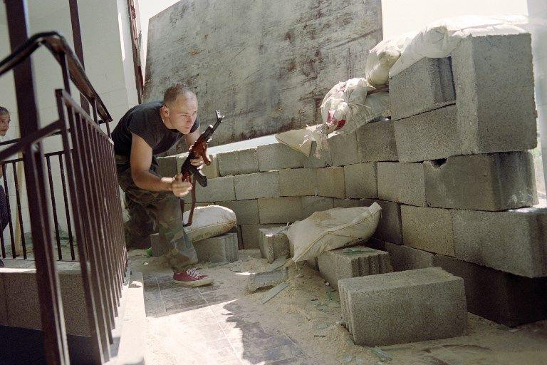 Un milicien croate en juillet 1992 à  Sarajevo