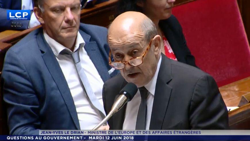 Jean-Yves Le Drian à l'Assemblée Nationale mardi