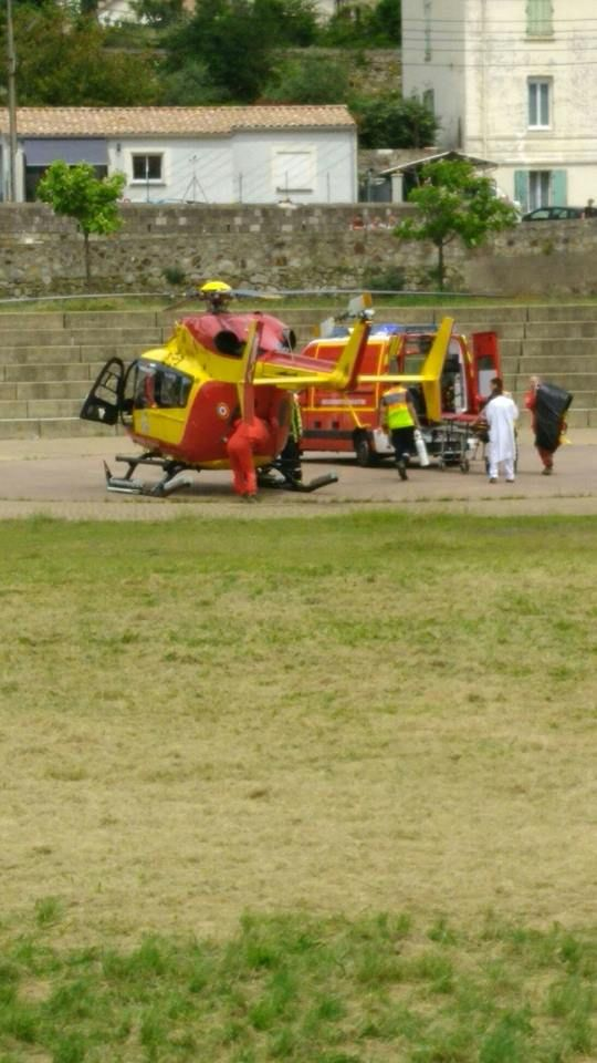 L'enfant a été transporté vers l'hôpital de Montpellier