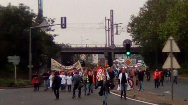La manifestation a duré deux heures