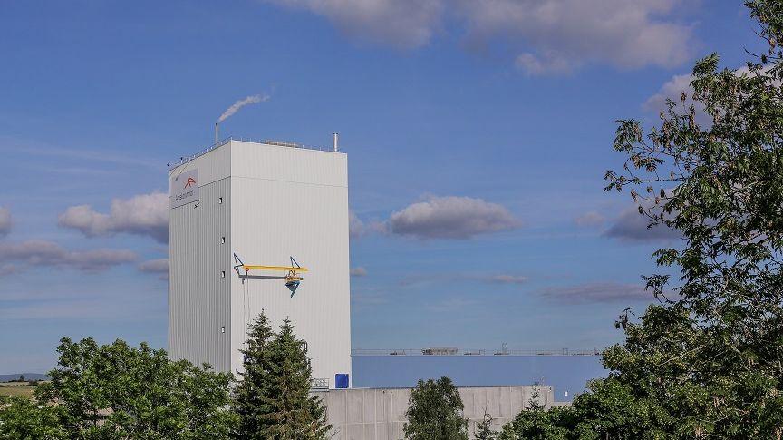 Le site sidérurgique d'ArcelorMittal, implanté dans la commune de Saint-Chély-d'Apcher (Lozère)