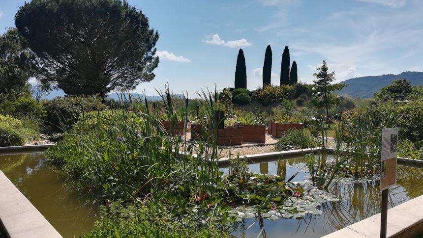 Le bassin du jardin a été restauré.