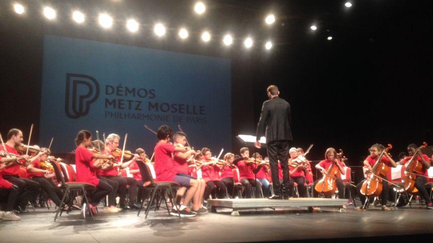 L'orchestre Demos Metz Moselle a réalisé son deuxième spectacle, ce dimanche sur la scène nationale du Carreau à Forbach