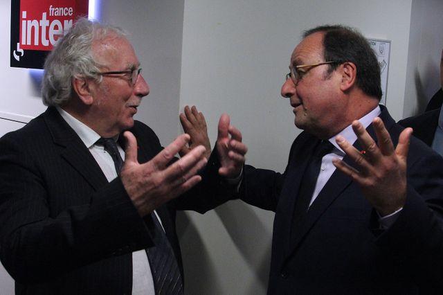 Jacques Vendroux et François Hollande