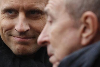 Gérard Collomb et Emmanuel Macron en janvier 2018