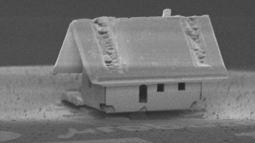 Une maison plus petite que le diamètre d'un cheveu, construite par les ingénieurs et chercheurs de Femto-St ©Femto-St