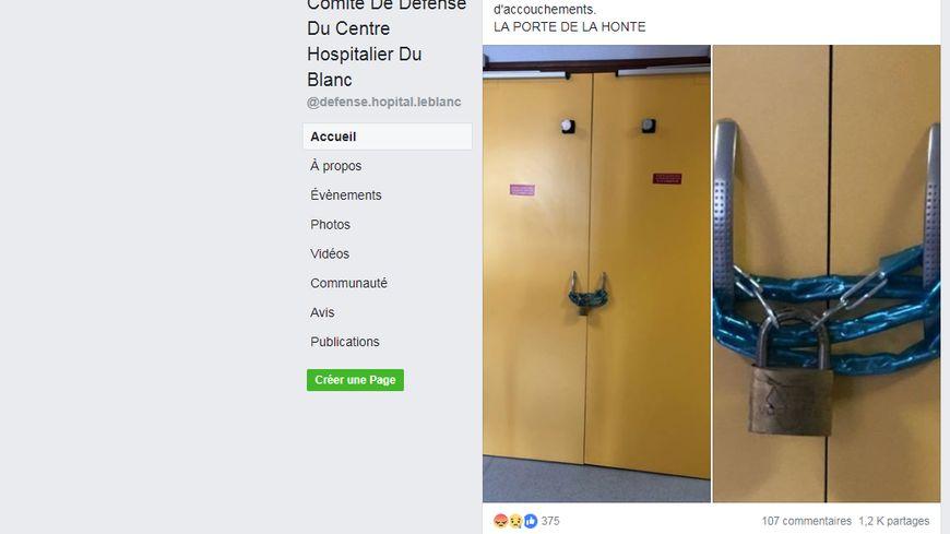 Le cadenassage des portes du service de la maternité diffusé par le Comité de Défense a indigné le député de l'Indre