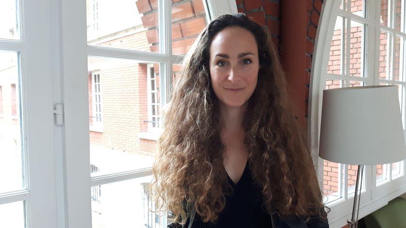 Julie Timmerman, comédienne, dramaturge et metteure en scène d'Un Démocrate