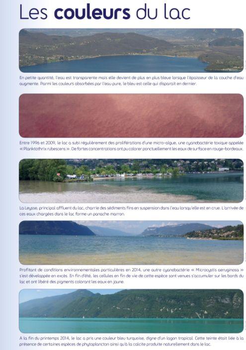 Les différentes couleurs du lac du Bourget.