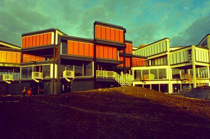 École d'architecture de Nanterre (1971-1972, arch. : Jacques Kalisz, école accueillant l'UP 2 et l'UP 5)