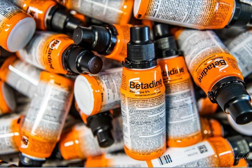 Des flacons de Bétadine produits à Mérignac