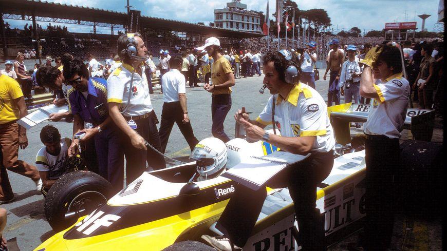 René Arnoux au départ du GP du Brésil 1980 à Interlagos