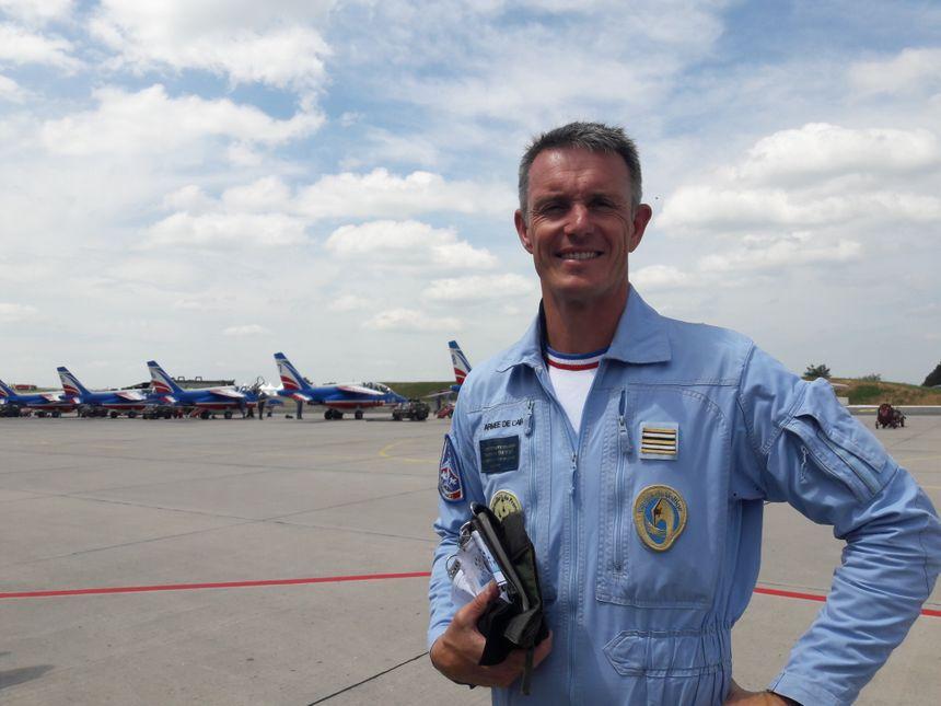 Le lieutenant colonel Gauthier Dewas est le chef de la PAF 2018