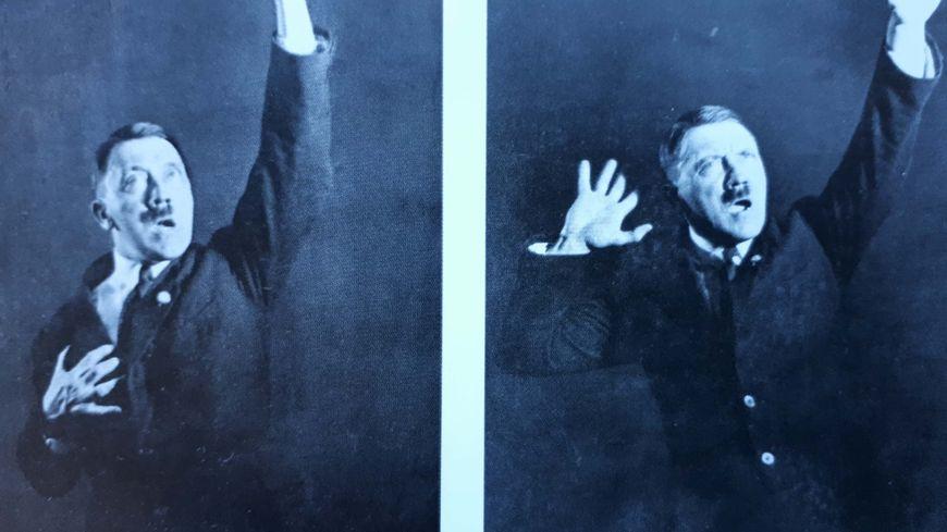 Adolf Hitler, en 1927, s'initiant à l'art d'haranguer les foules.