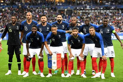 L'équipe de France de football 2018 au Stade de France, le 28 mai 2018.