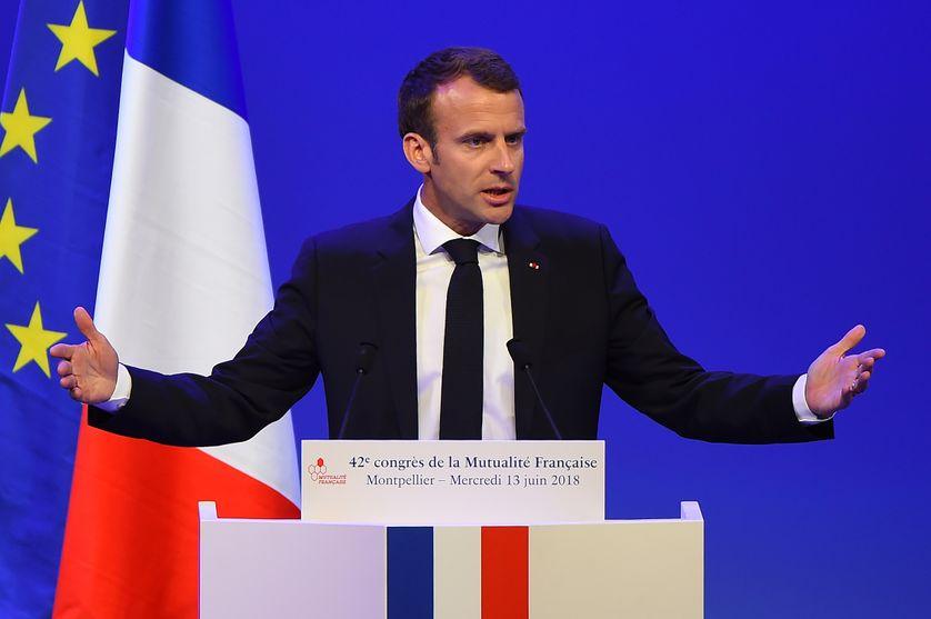 Emmanuel Macron pour le 42e congrès de la Mutualité Française.