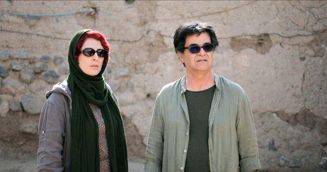 "Behnaz Jafari et Jafar Panahi dans ""Trois visages"""
