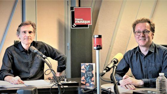 """France Musique, studio 152... Philippe Venturini & David Christoffel propose """"La musique vous veut du bien"""" Éditions PUF"""