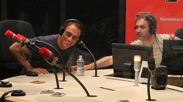 Jean-Claude Van Damme et Augustin Trapenard
