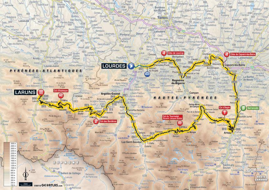 Tour de France 2018 : le parcours de la 19e étape entre Lourdes et Laruns