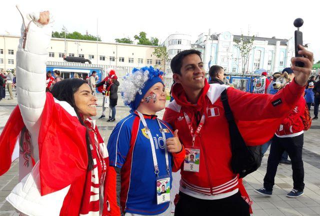 Supporters français et péruviens