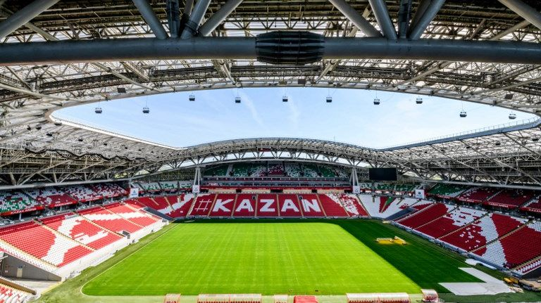 La France disputera son premier match le 16 juin prochain au Kazan Arena (41 585 places)